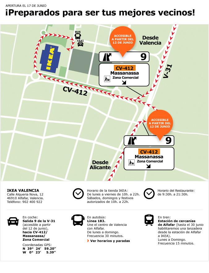 Cómo llegar a Ikea Alfafar (Valencia) | Cosas prácticas - photo#32